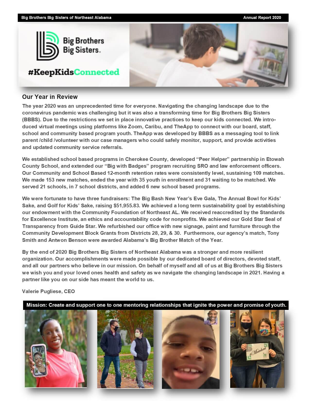 Big Brothers Big Sisters Annual Report 2020-pg1